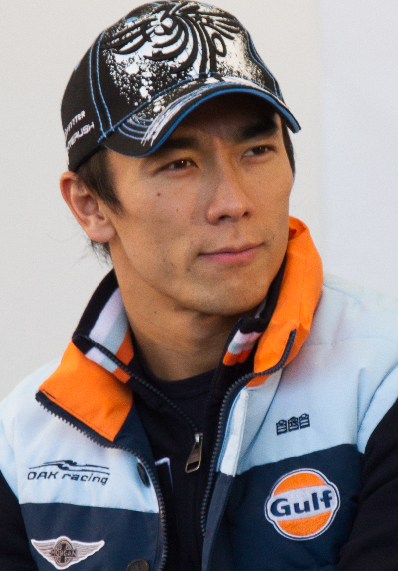 The 41-year old son of father (?) and mother(?), 173 cm tall Takuma Sato in 2018 photo
