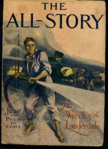 The All-Story giugno 1912, con la quinta e penultima puntata di Edgar Rice Burroughs Sotto le lune di Marte (Under the Moons of Mars)