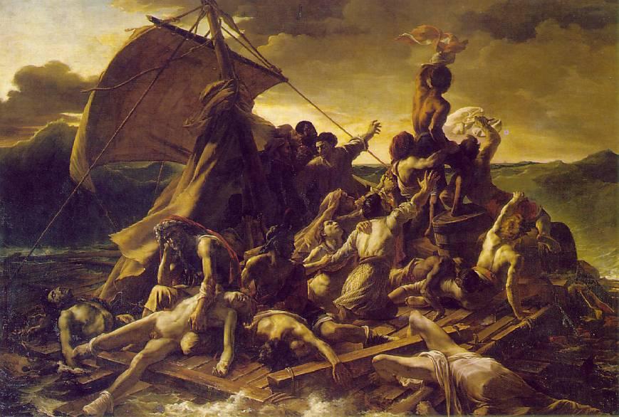 Raft of the Medusa painting