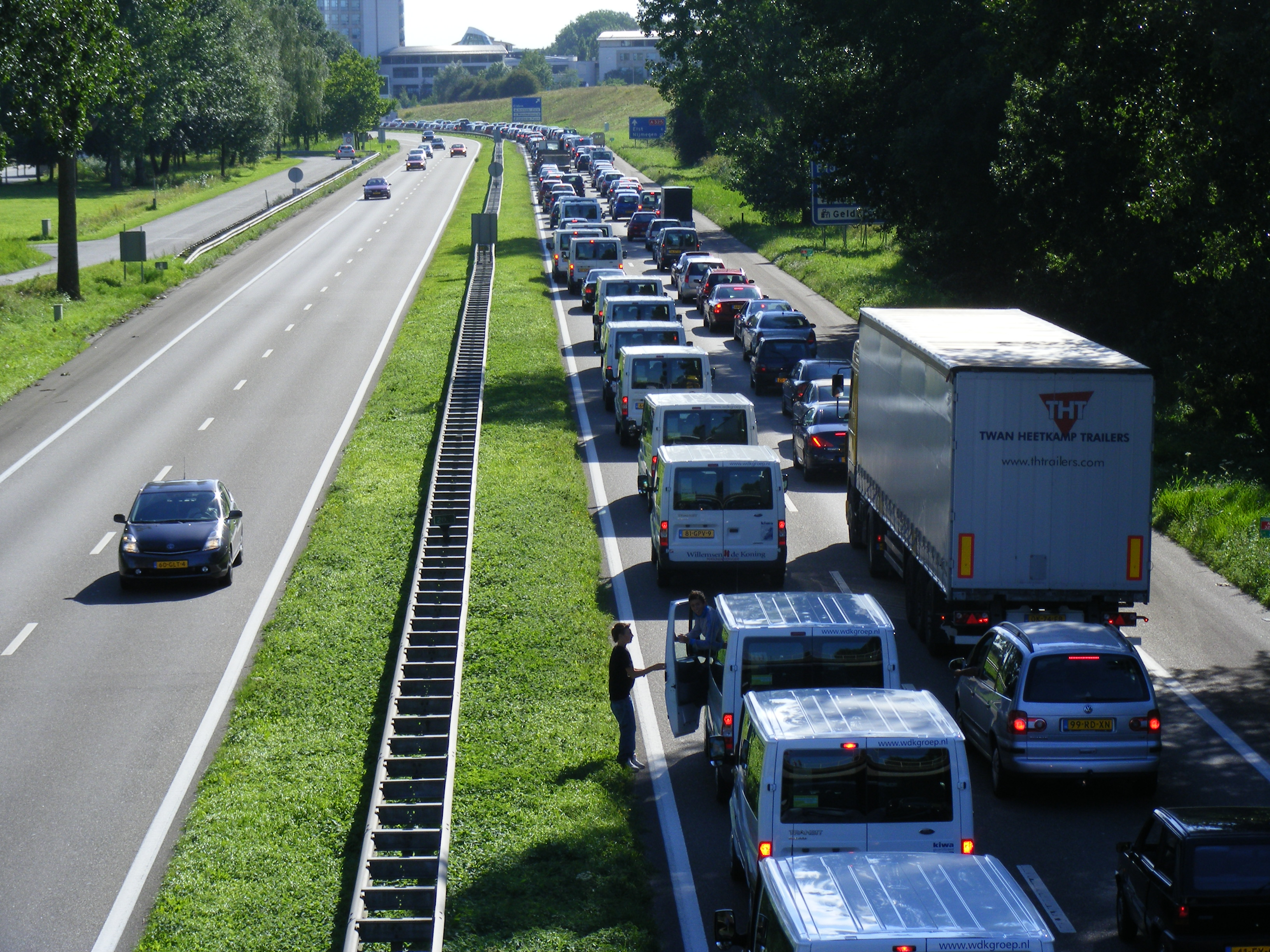traffic and road congestion What's up with that: building bigger roads actually makes traffic worse.