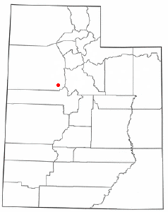 Location of Vernon, Utah