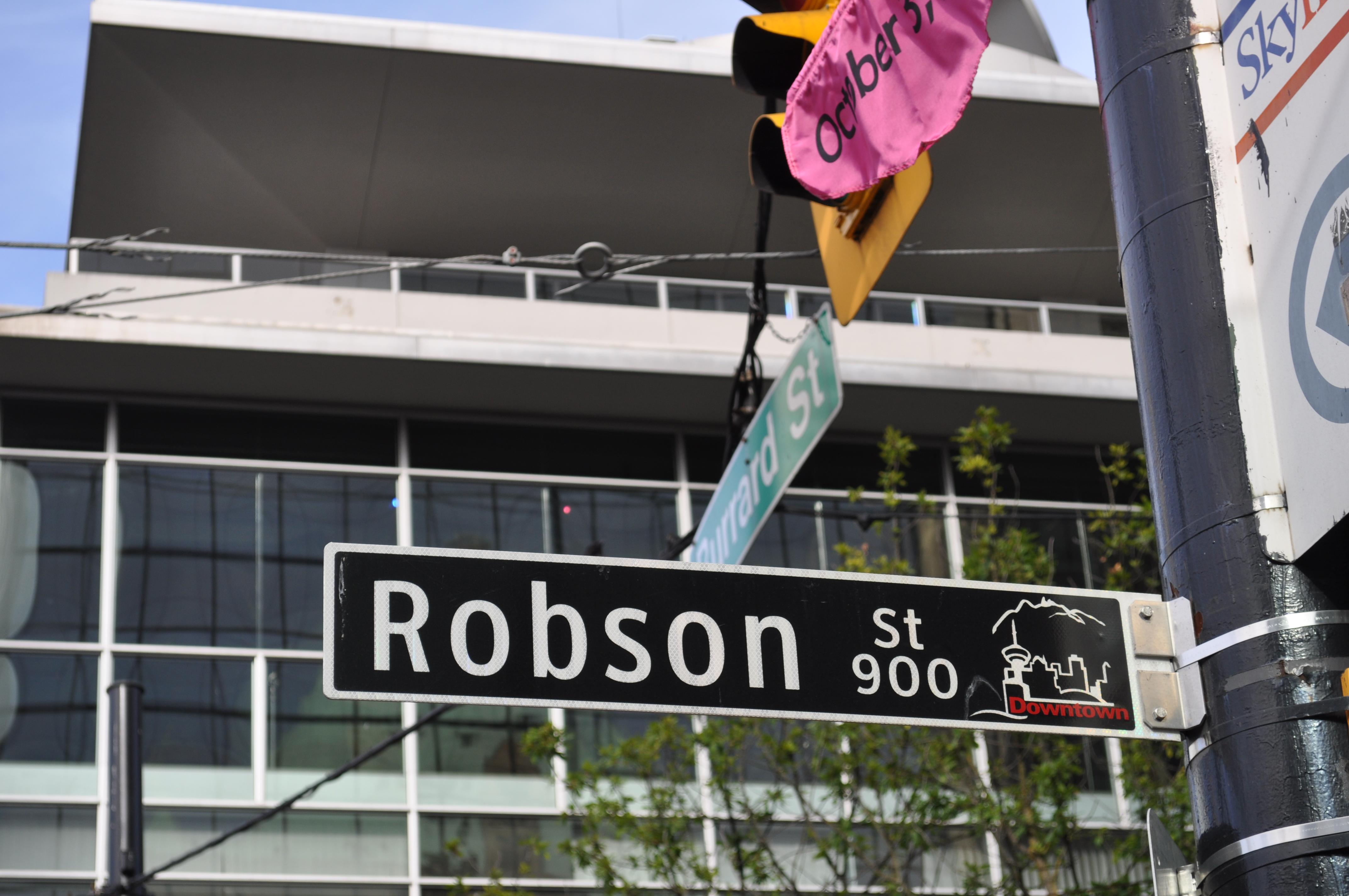 Vancouver - Robson street sign.jpg