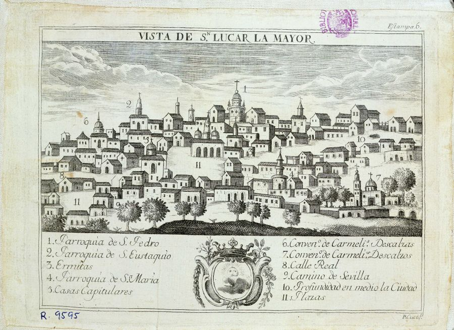 Sanlucar la Mayor Spain  City pictures : Sanlúcar la Mayor, Sevilla province, Spain. From 17th century book ...