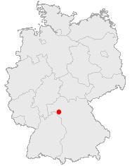 Würzburgs beliggenhed i Tyskland