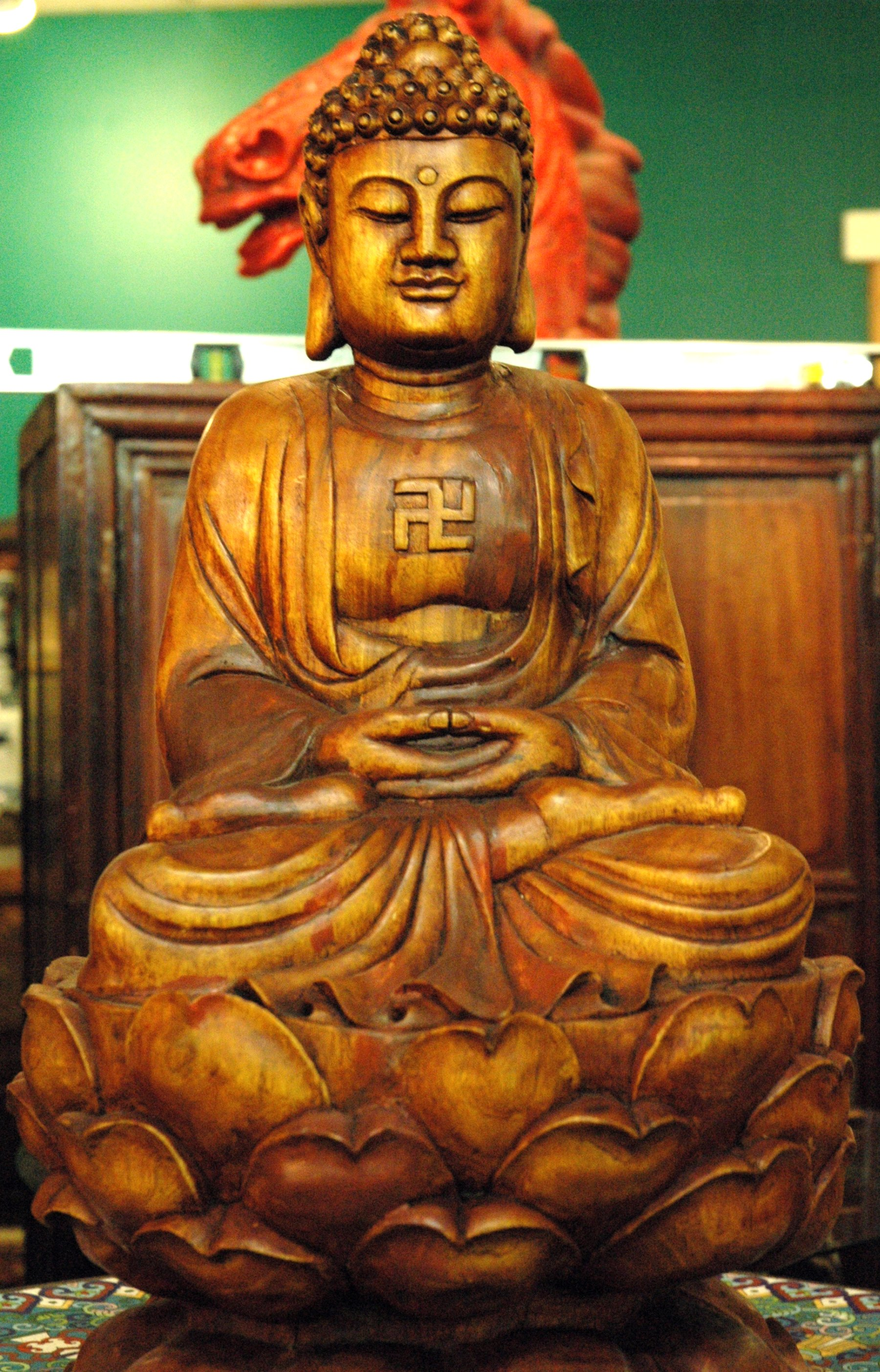 Filewooden Buddha With Gamadiang Wikimedia Commons