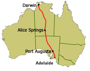 Route of the World Solar Challenge