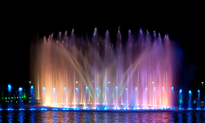 Wroclaw Multimedia-Brunnen bei der Jahrhunderthalle