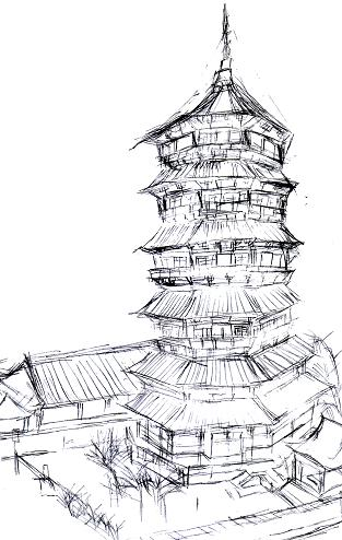 Buddhist Temple Coloring Pages