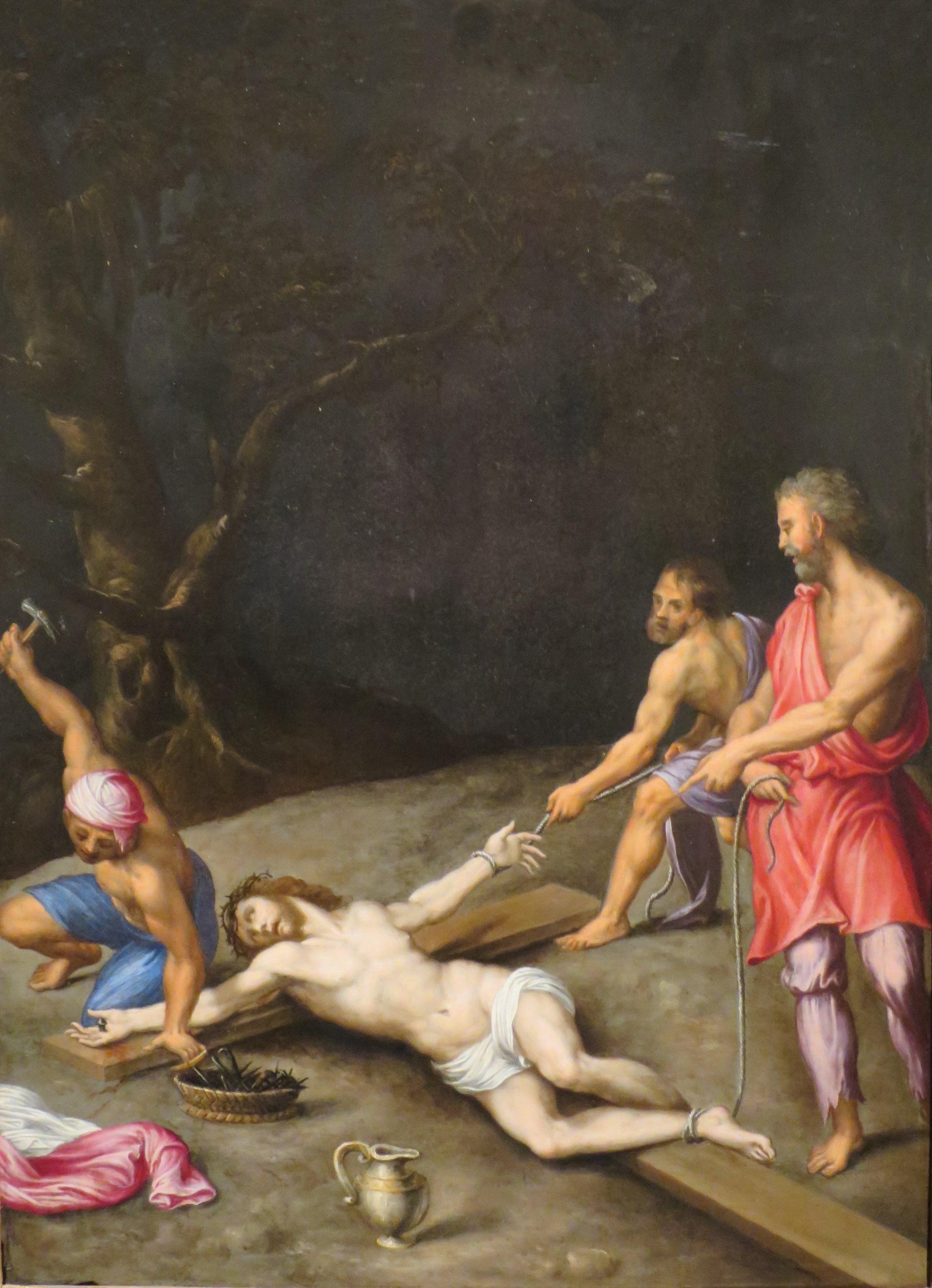 File:\'Christ Nailed to the Cross\' by Giovanni Battista Cremonini ...