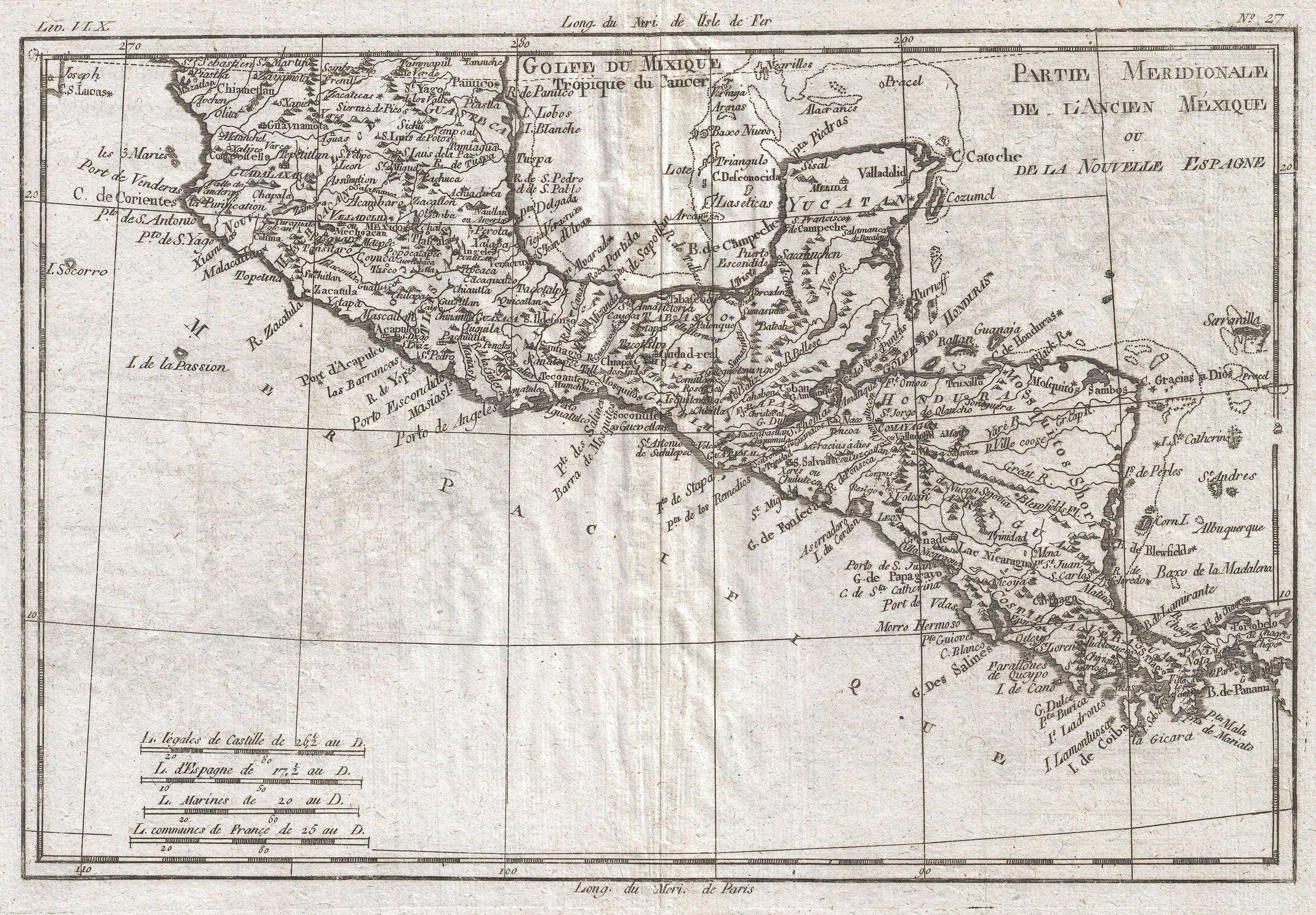 File:1780 Raynal and Bonne Map of Central America and Southern ...