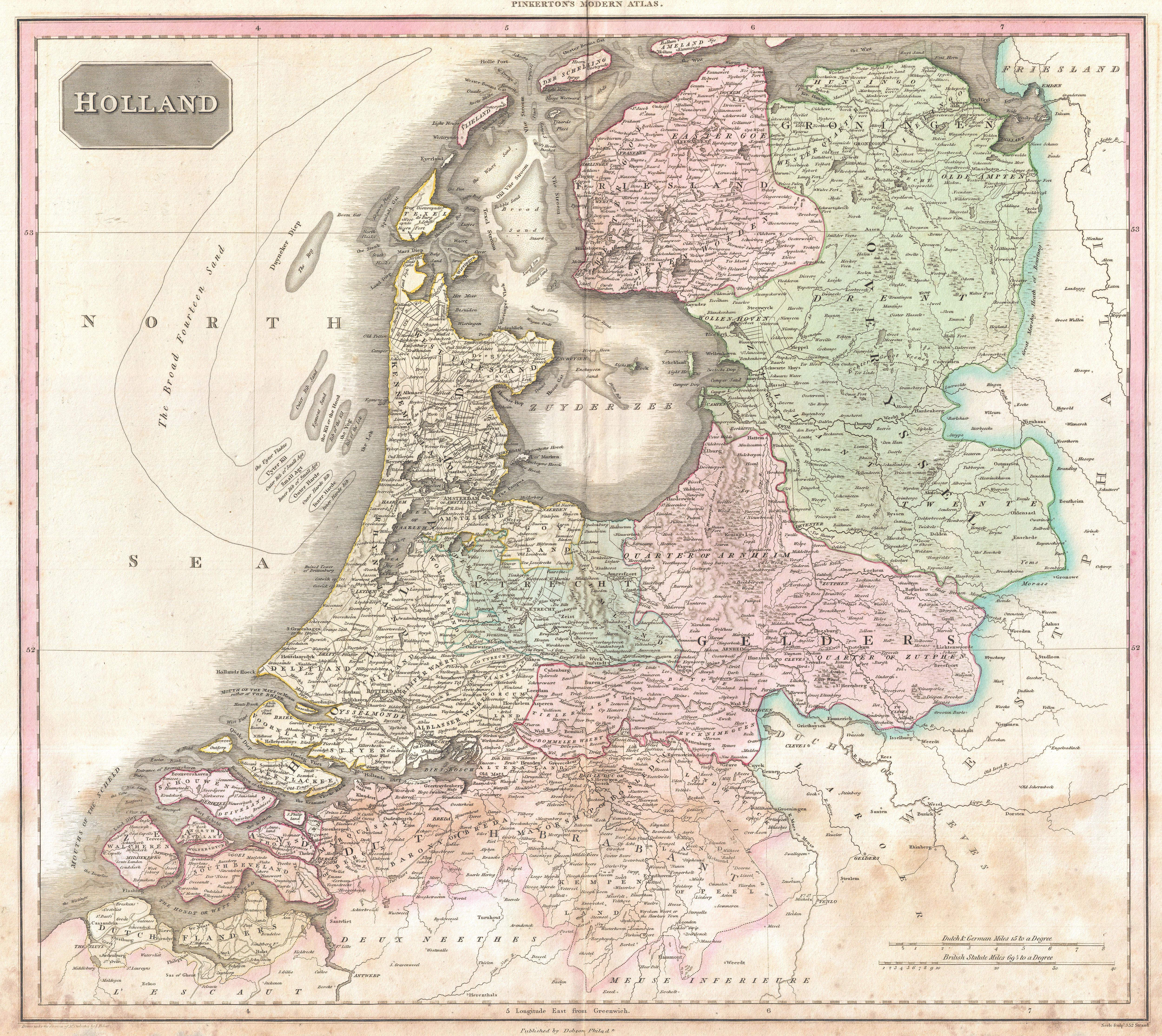 File1818 Pinkerton Map of Holland or the Netherlands
