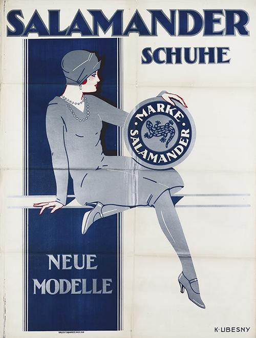 7d5025f5d43d83 Datei 1928 circa Kurt Libesny Plakat Salamander Schuhe Salamander AG ...