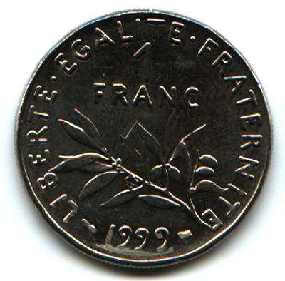 File:1 franc 1999 1.png