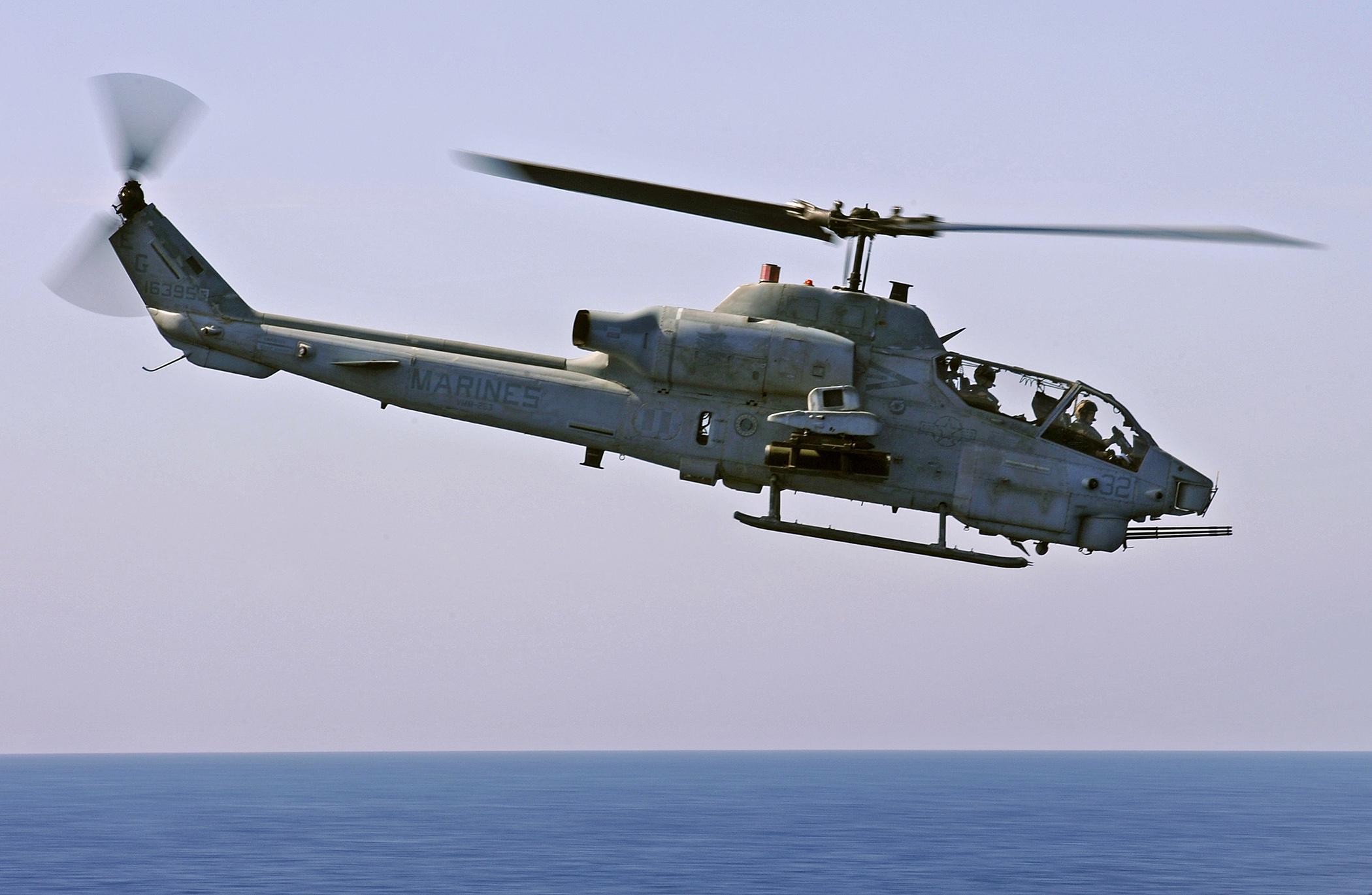 File:AH-1W Cobra over water.jpg