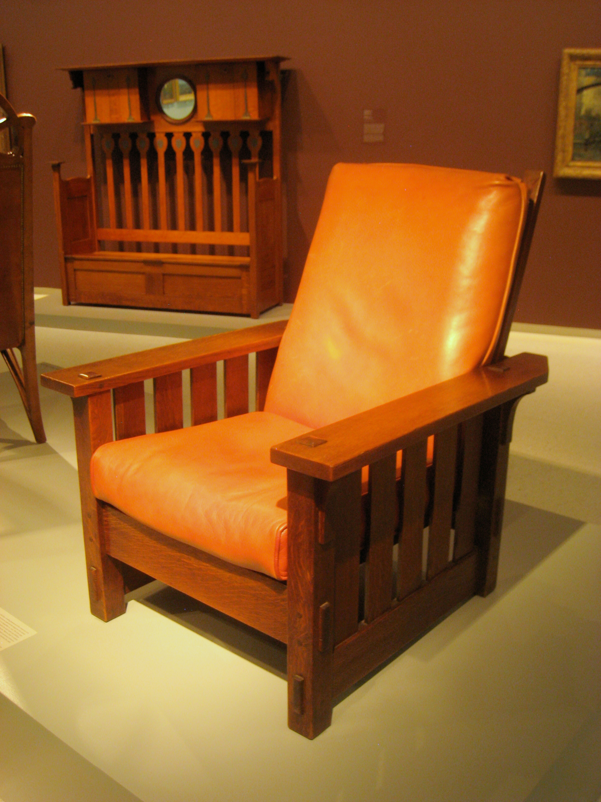 File Adjustable Back Chair No 2342 Gustav Stickley 1900