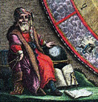 English: The Greek astronomer Aristarchus of S...