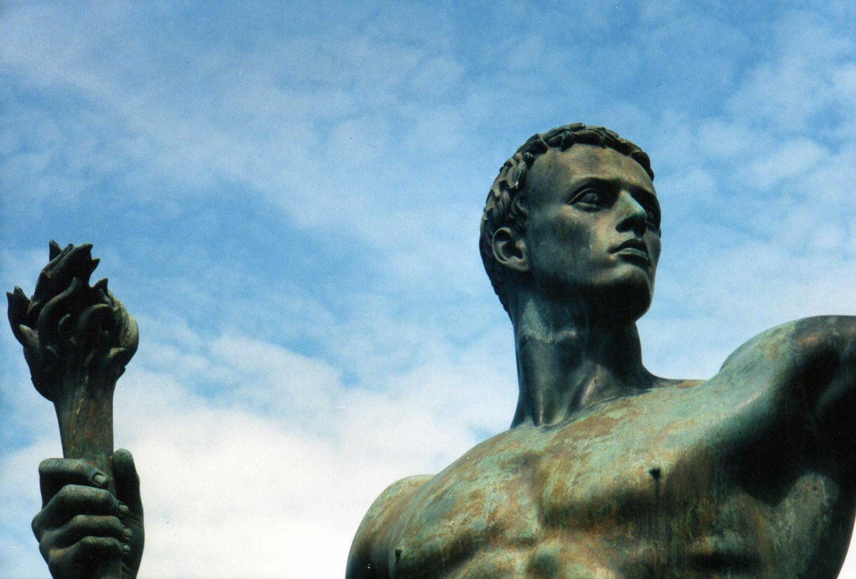 Die Partei. Allegorische Skulptur von Arno Breker.
