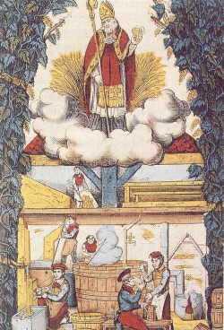 Den hellige Arnulf av Metz som skytshelgen for ølbryggere
