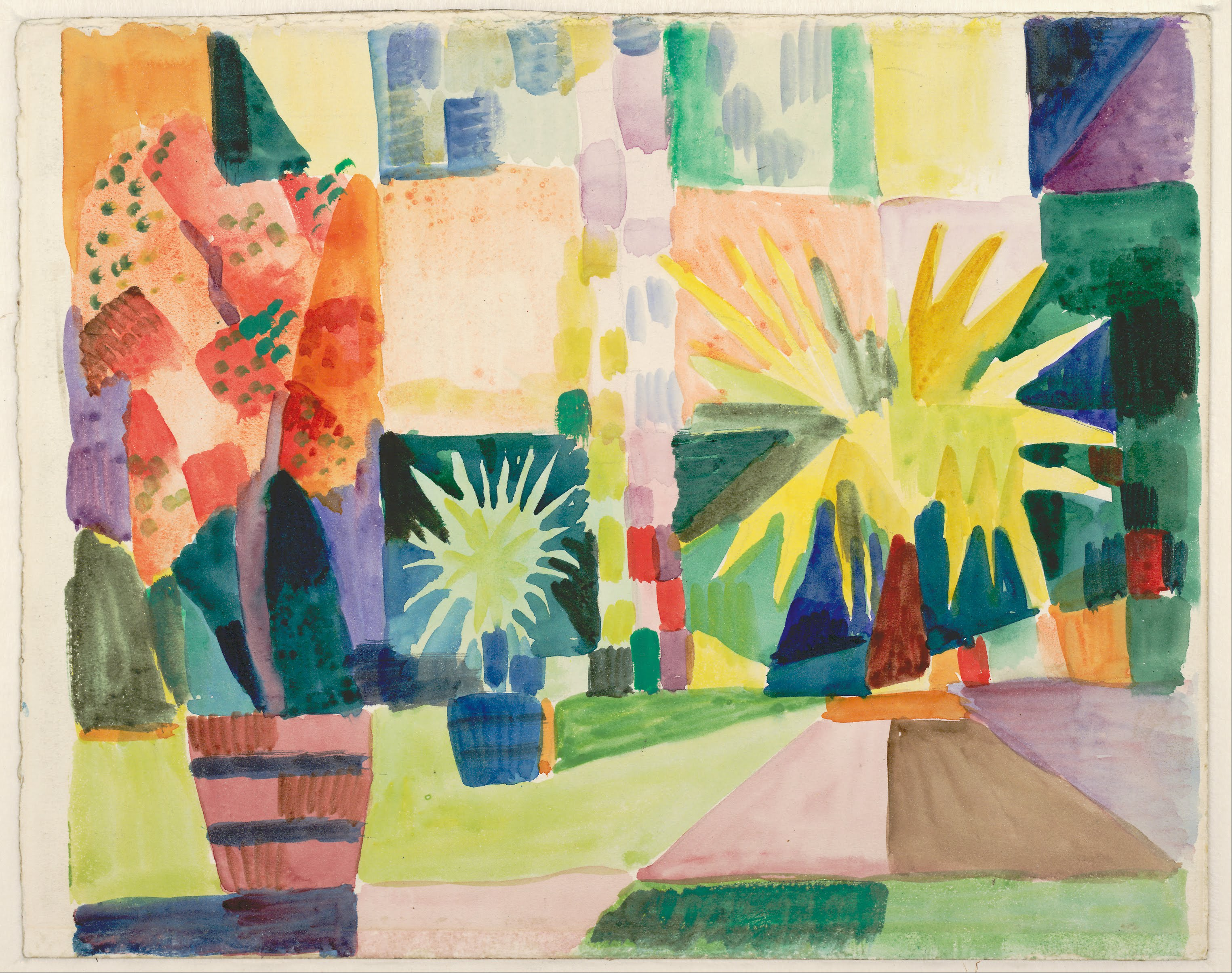 Garden in august in a garden - File August Macke Garden On Lake Thun Pomegranate Tree And Palm In The