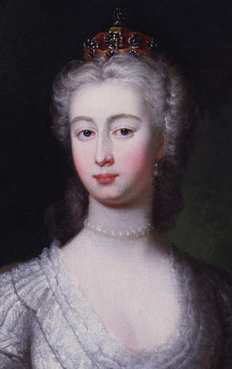 Saxe Video http://commons.wikimedia.org/wiki/File:Augusta_of_Saxe-Gotha,_Princess_of_Wales_by_Charles_Philips_cropped.jpg