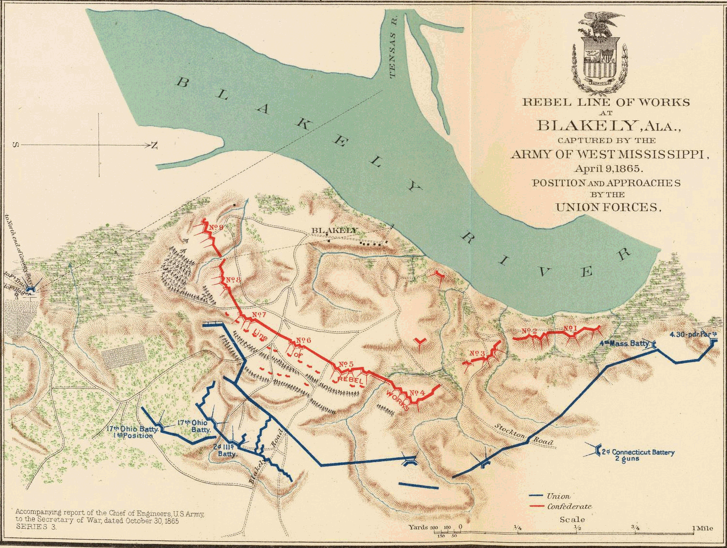 FileBattle Of Fort Blakely Mappng Wikimedia Commons - Map of us army forts