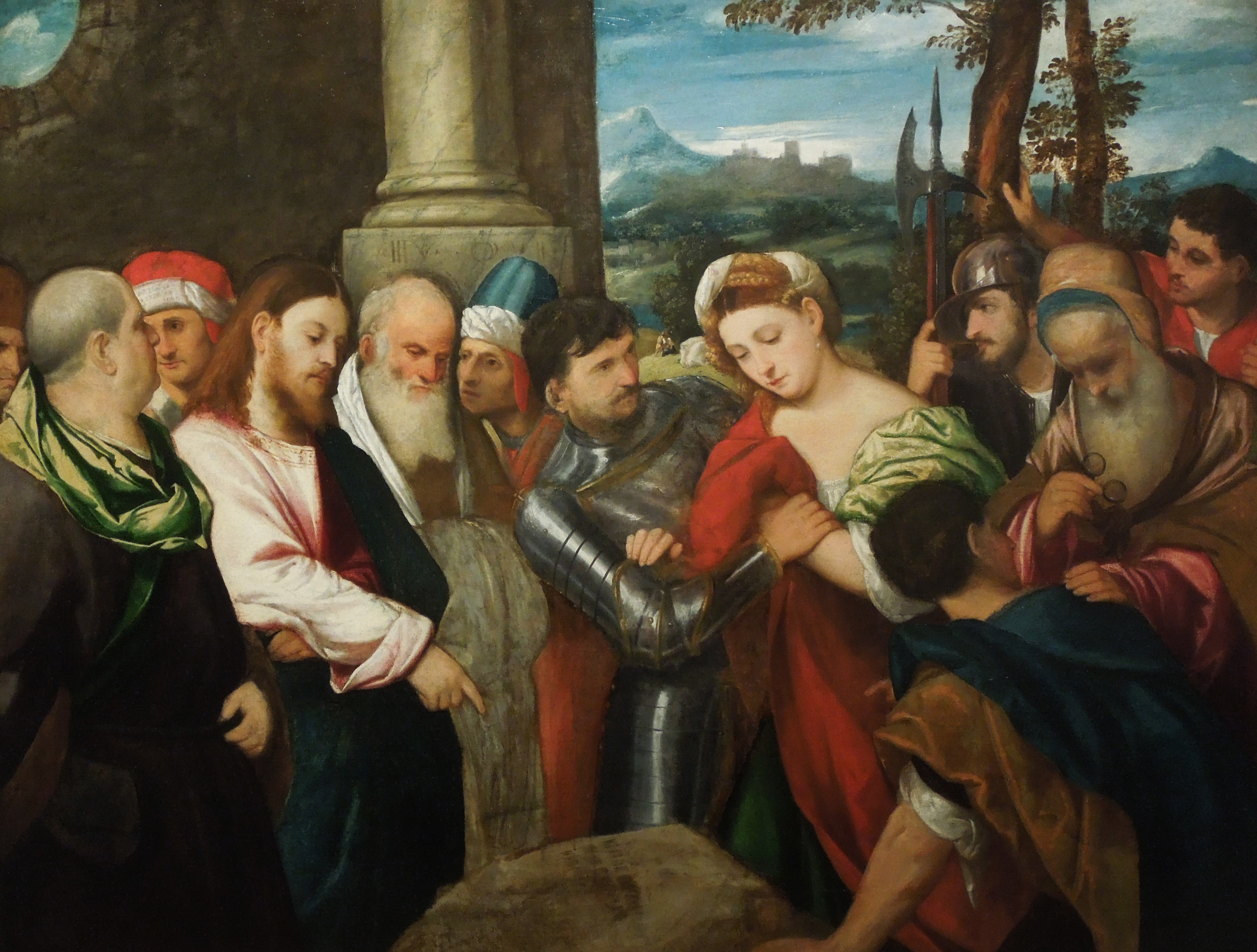 File:Bonifacio de' Pitati - Christ with the Adulteress jpg
