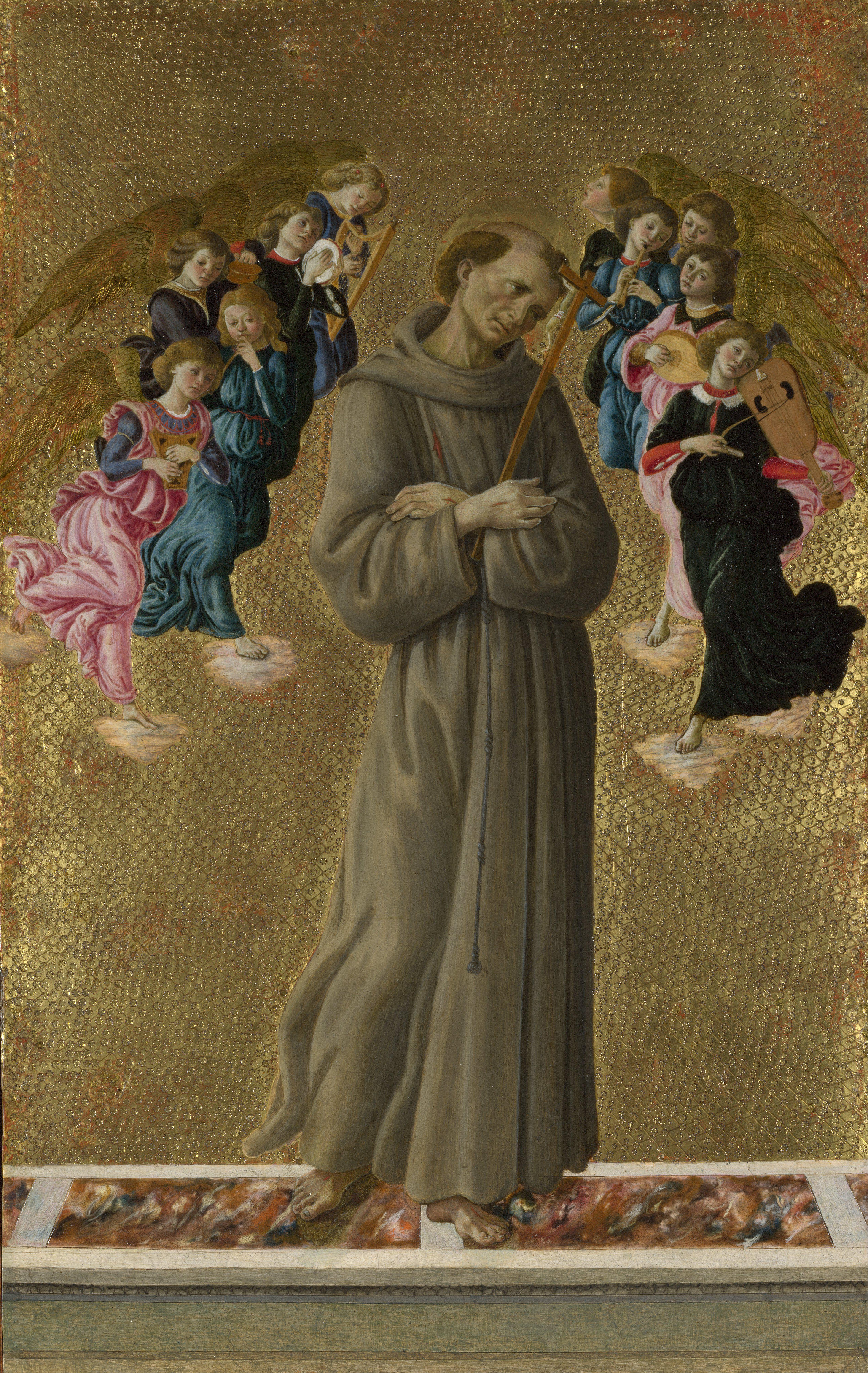 English: Saint Francis of Assisi with Angels