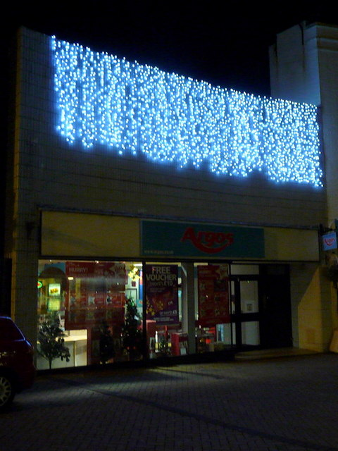 File:Bournemouth, Christmas lights at Argos - geograph.org.uk ...