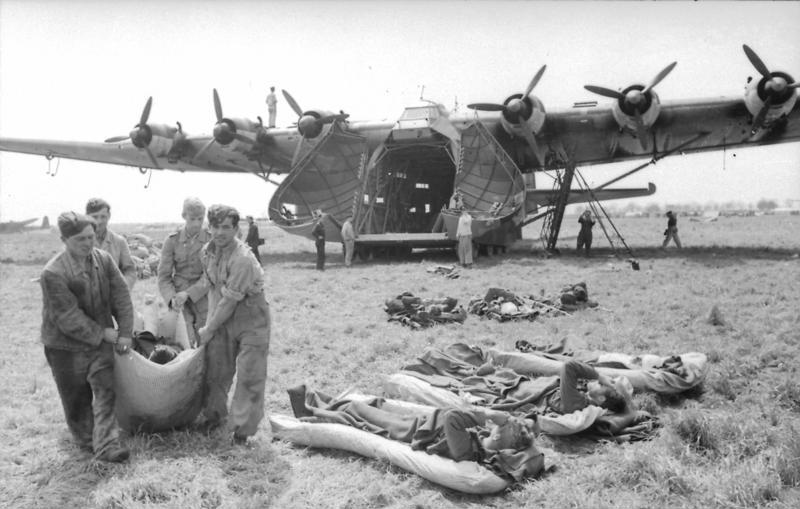 Me 323 transporting wounded personnel in Italy, March 1943