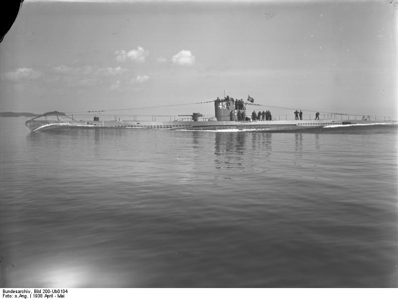 German Submarine U 45 1938 Wikipedia