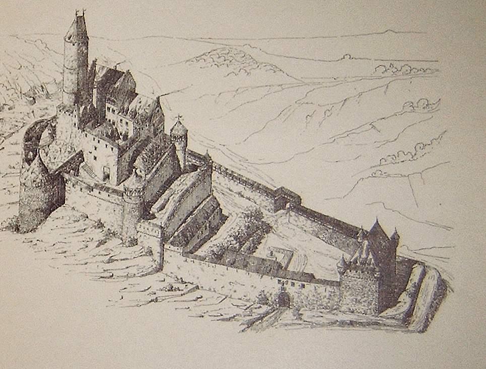 Burg Hornberg, der Wohnsitz des Götz von Berlichingen.