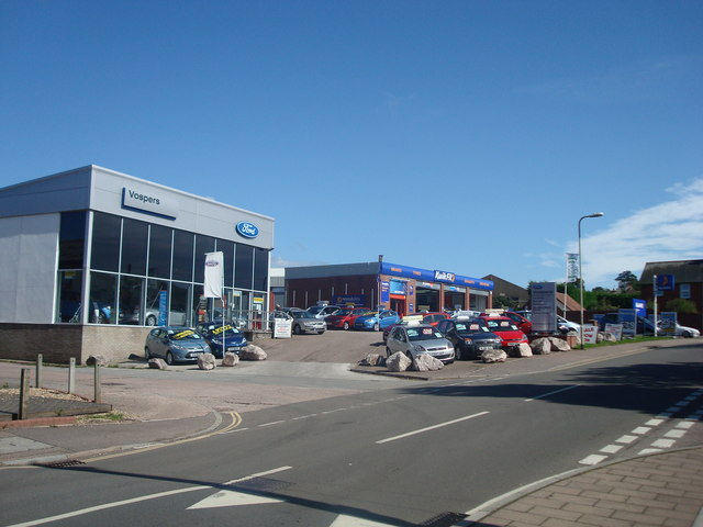 File:Car Dealer, Withycombe Village Road, Exmouth - geograph.org.uk - 1484421.jpg