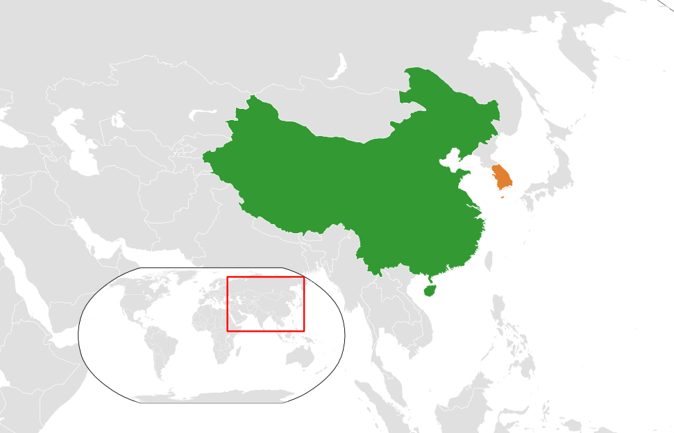 relationship between china and south korea