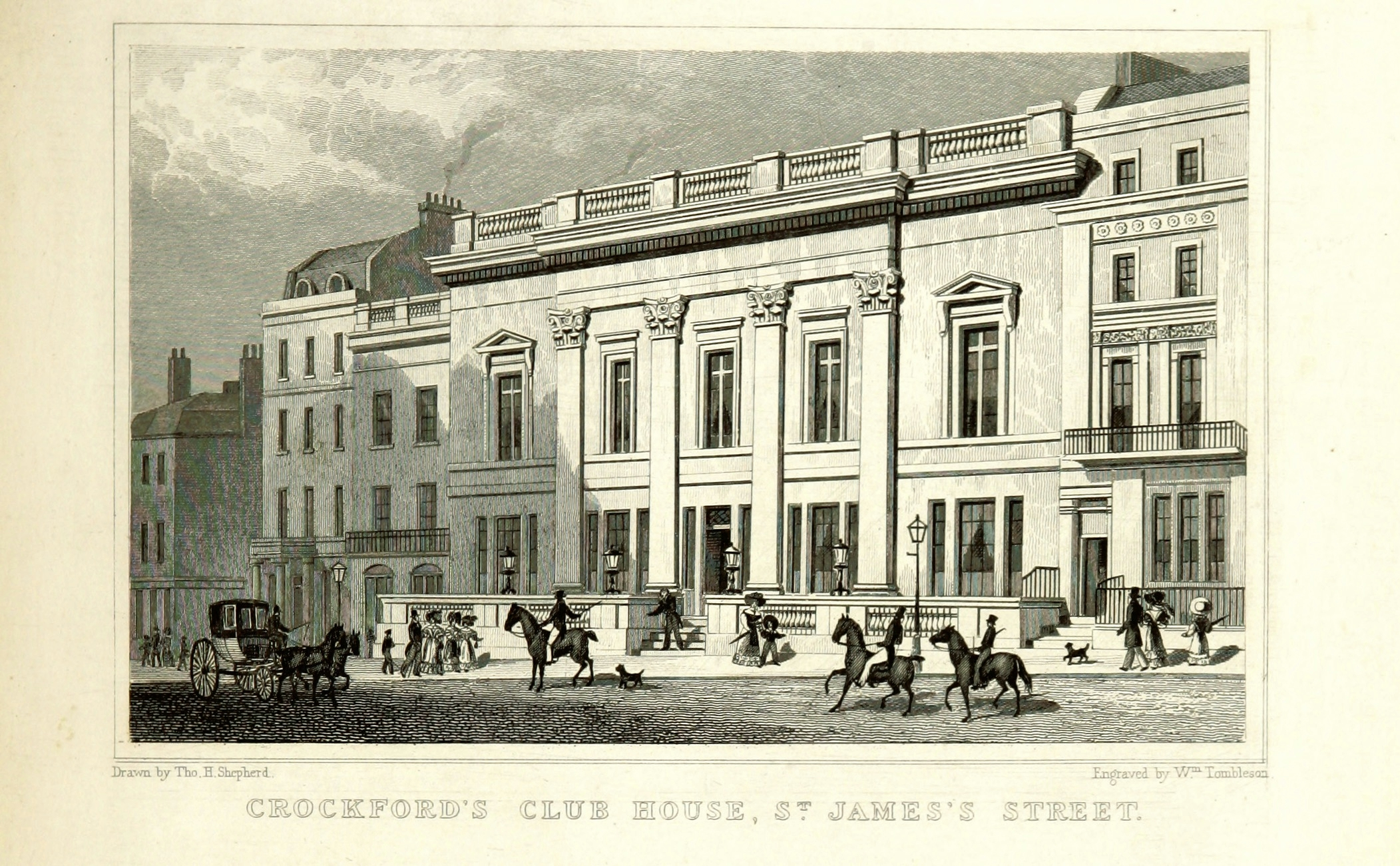File:Crockford's Club House, St James's Street - Shepherd, Metropolitan Improvements (1828
