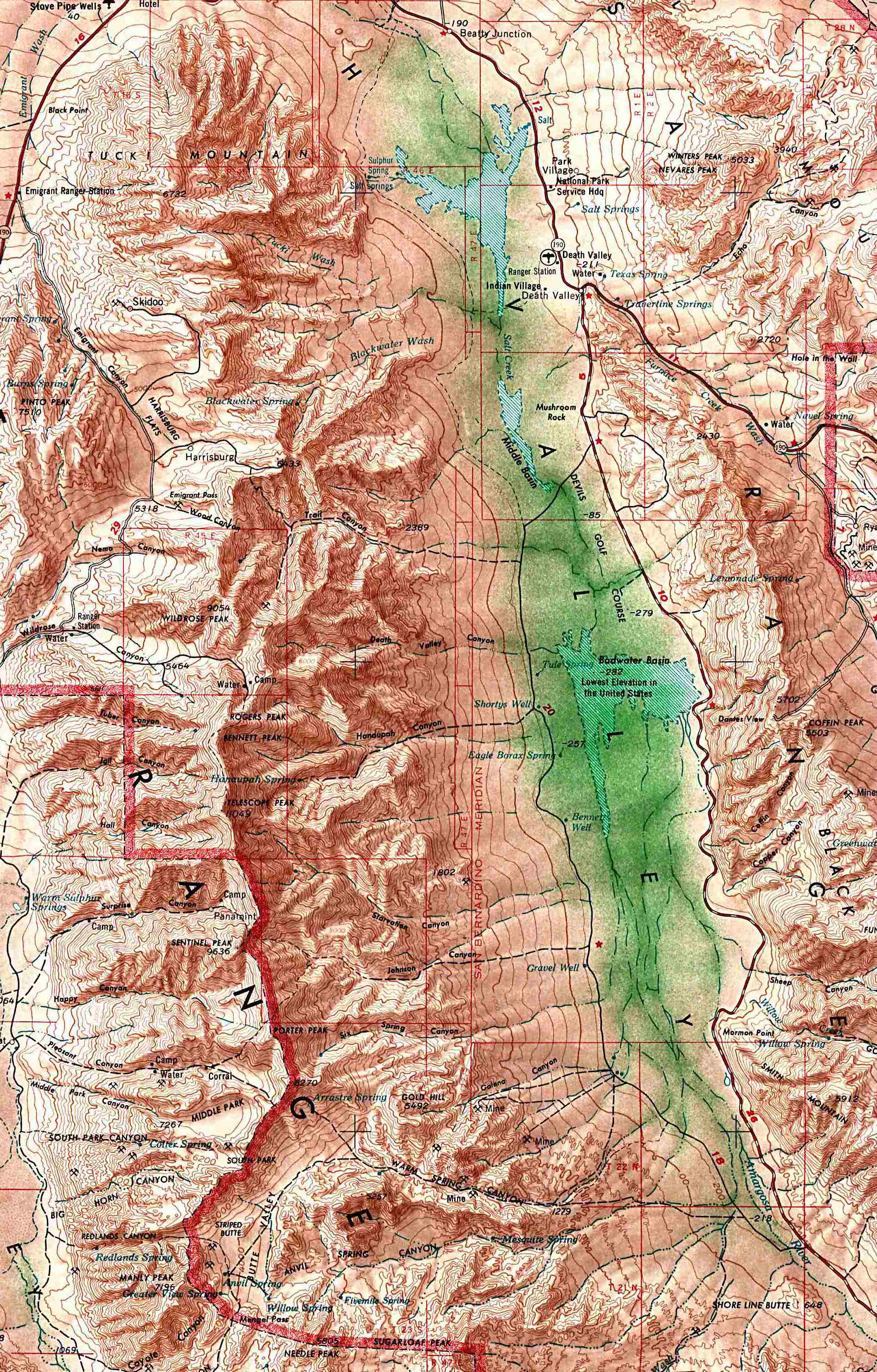 topographic map of death valley File Death Valley Nps 250 000 Map Jpg Wikimedia Commons