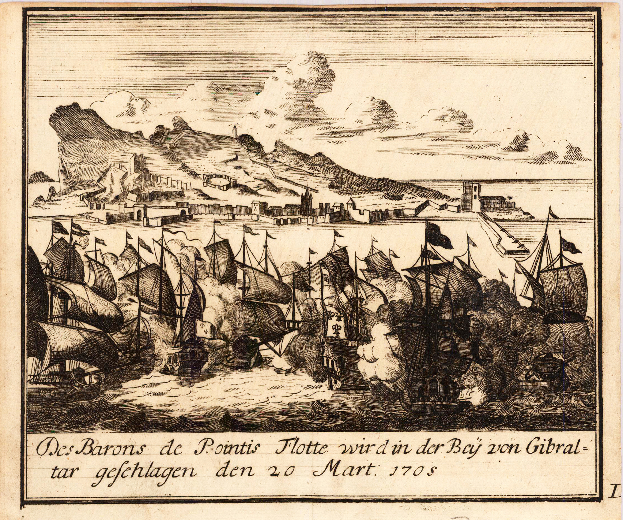 File:Decorative scenes of the War of the Spanish Succession - Gibraltar,  1705.
