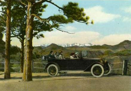 Denver Mountain Parks Postcard, 1918