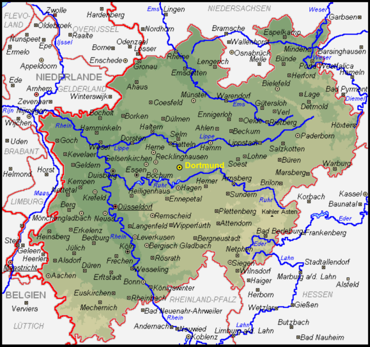 List of Synonyms and Antonyms of the Word Nordrheinwestfalen Map