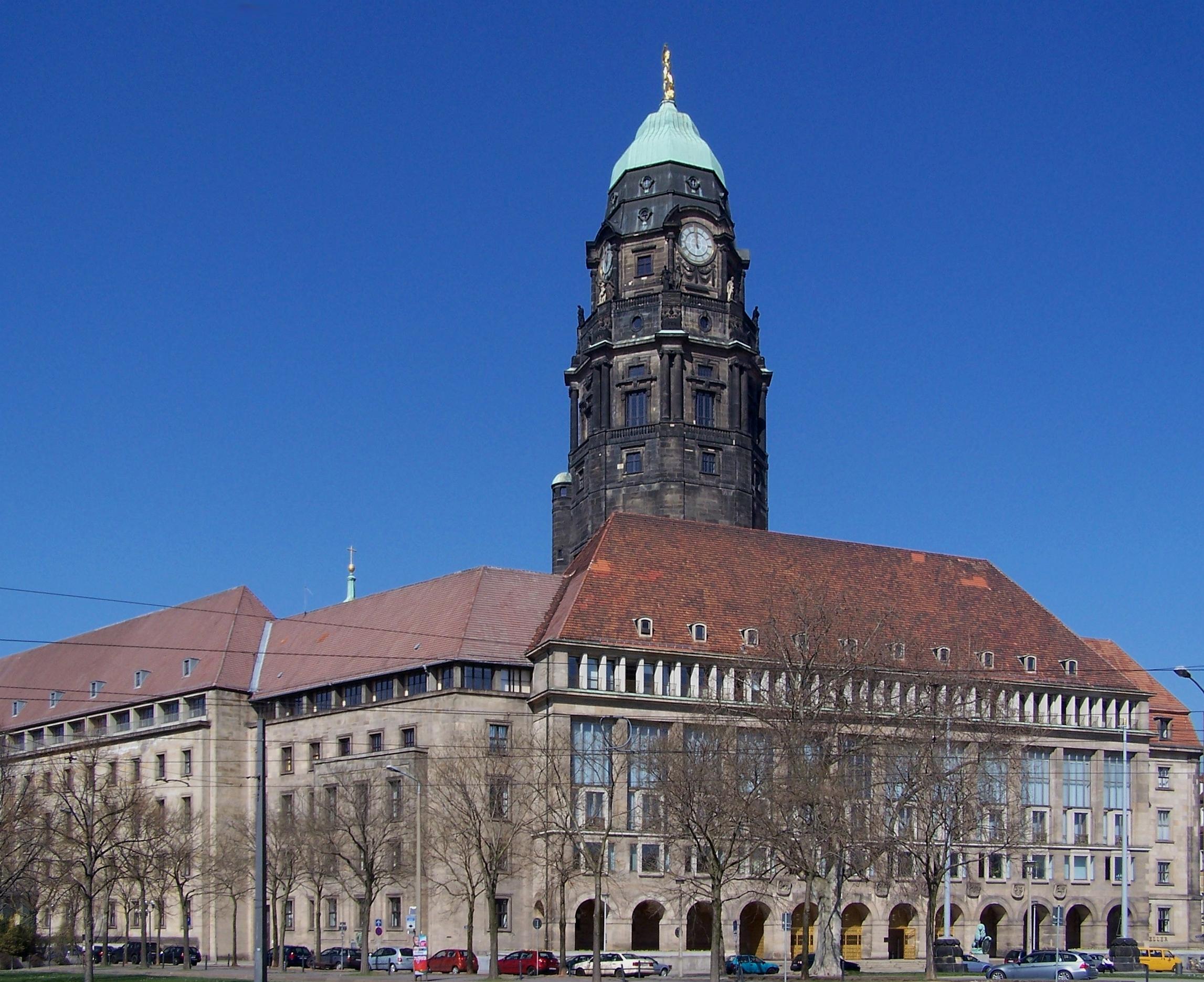 Image result for Dresden Rathaus 1945