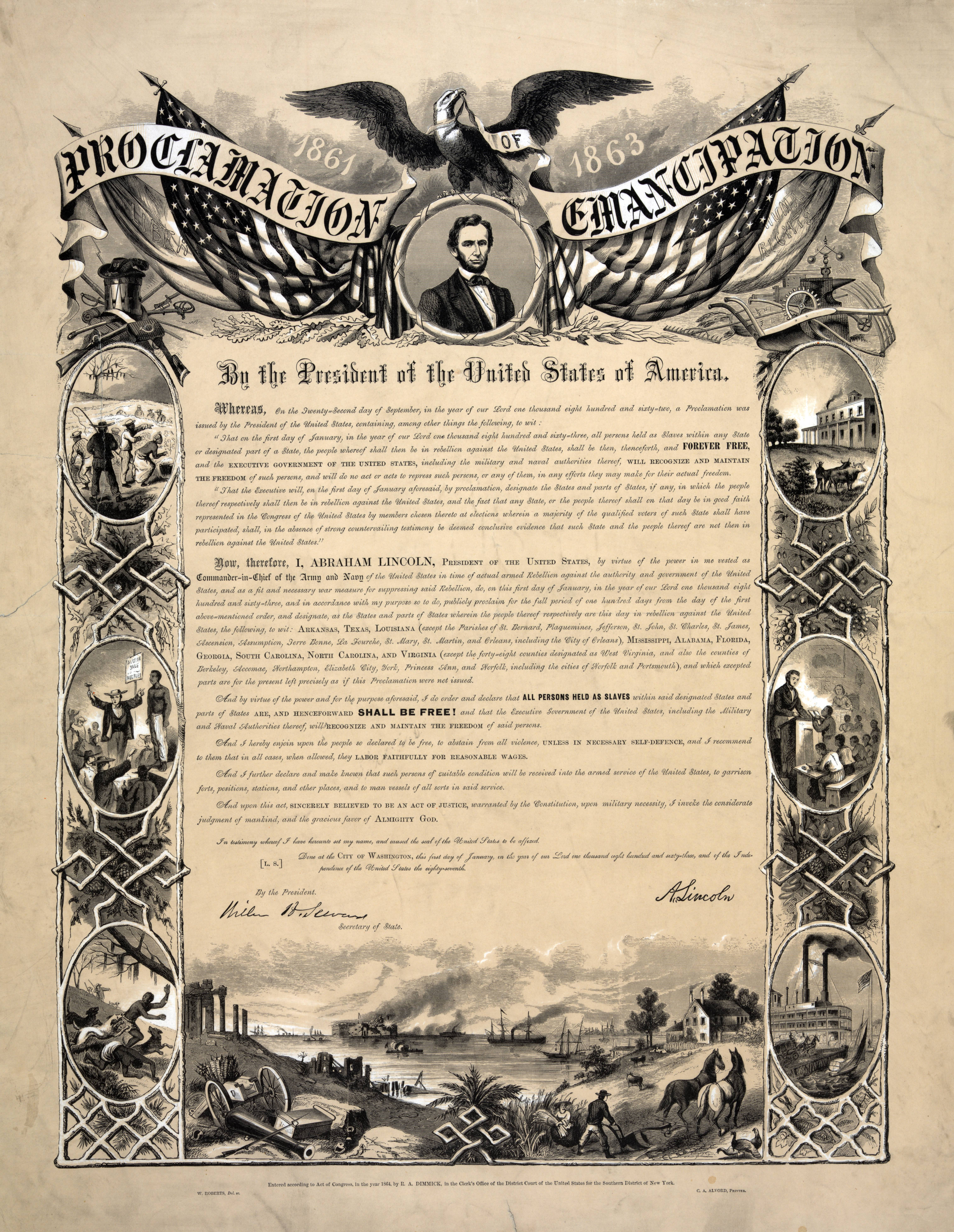 a history of the emancipation proclamation in united states Abraham lincoln, the 16th president of the united states, is remembered for the role he played in the emancipation of slaves lincoln issued the emancipation proclamation on september 22, 1862.