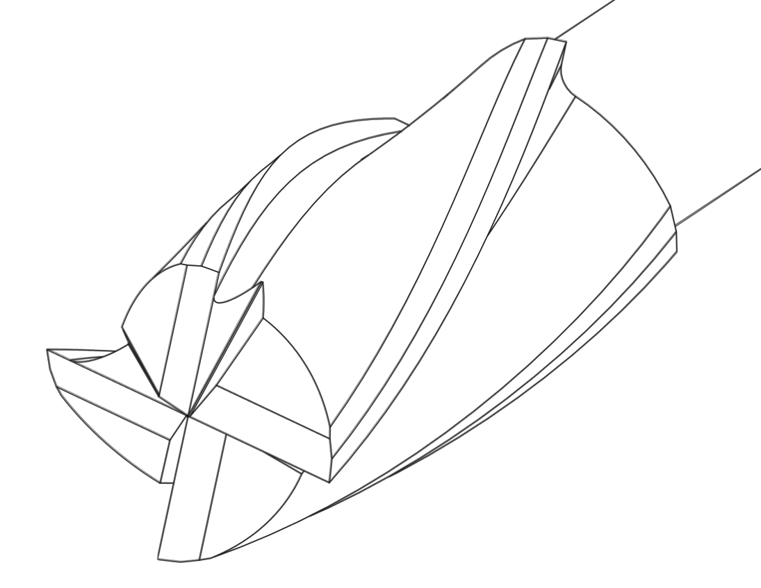 End Mill Drawing File:end Mill Outline
