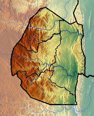 Location map Swaziland
