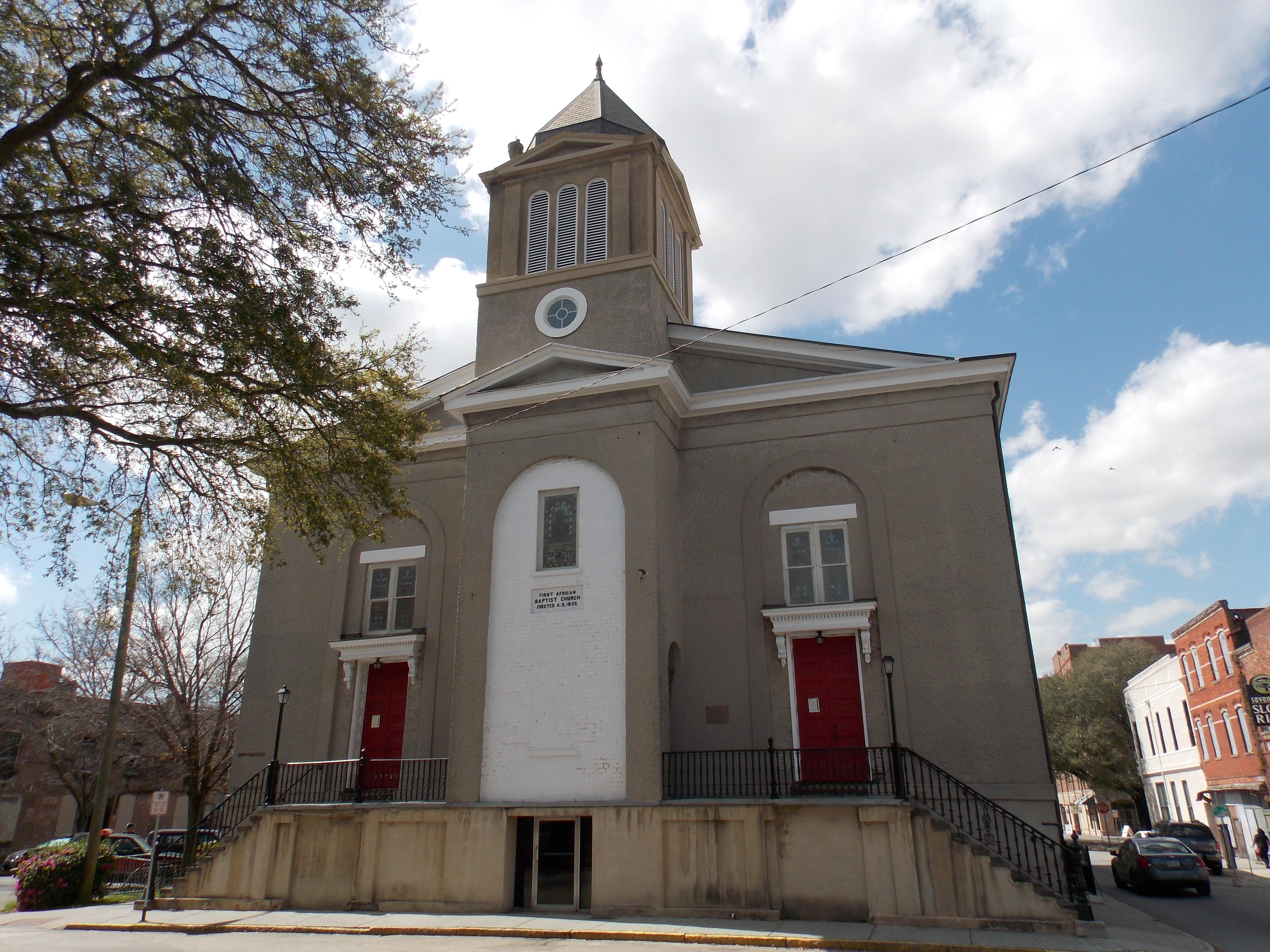 Wonderful Baptist Church In Savannah Ga #1: First_African_Baptist_Church_-_Savannah%2C_Georgia.JPG