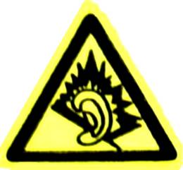 Symbol for danger of NIHL (Noise-Induced Heari...