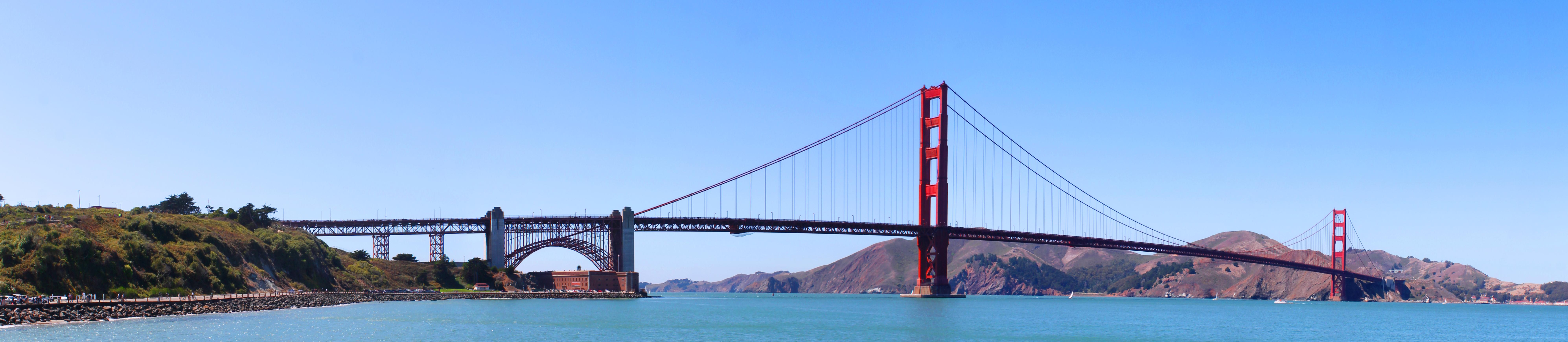 Description golden gate bridge panorama photo
