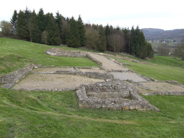 Great Witcombe Roman Villa - from the south - geograph.org.uk - 485595