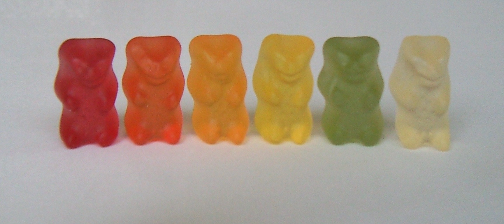 Gummi bears in a row