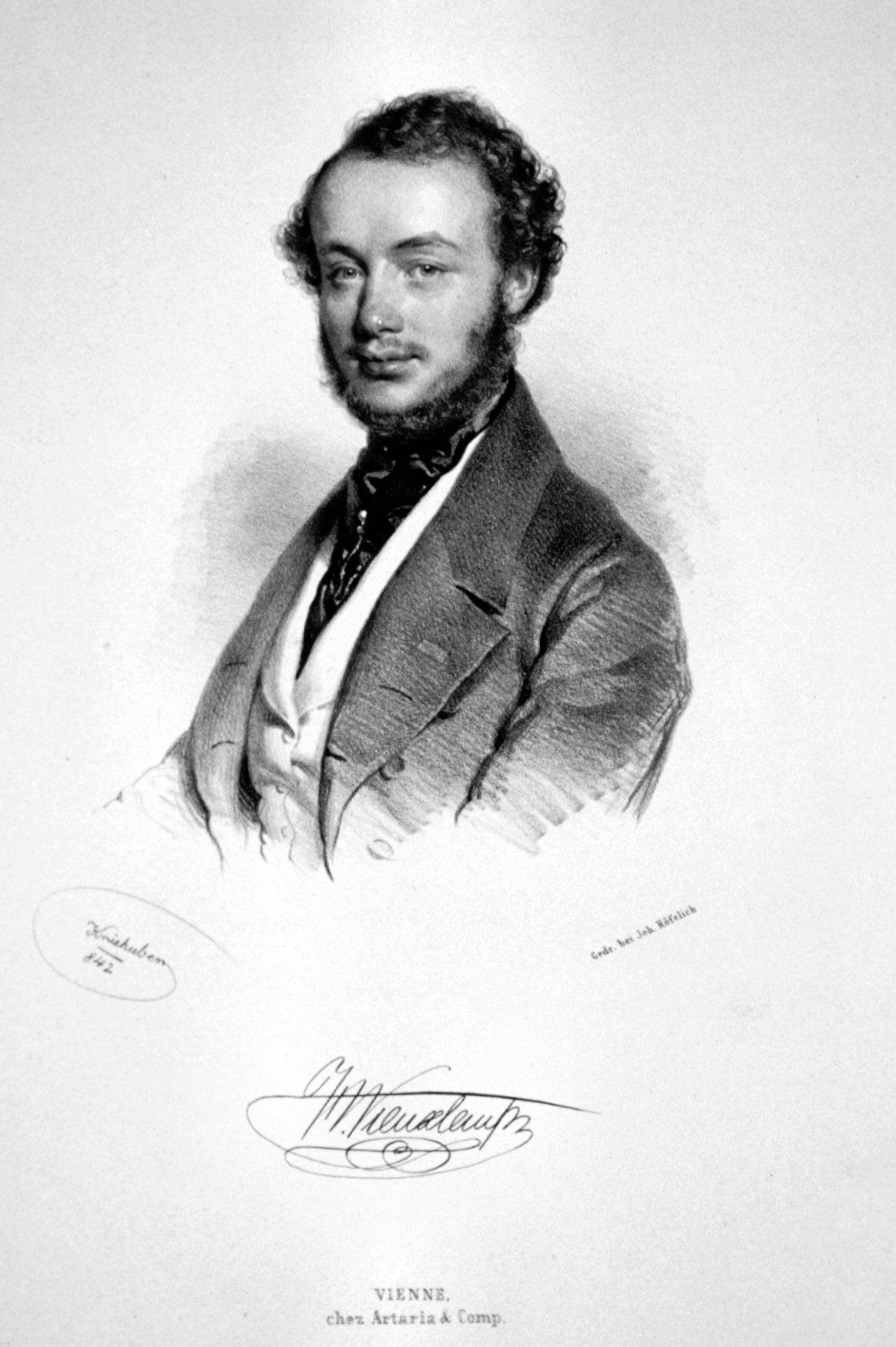 Henri Vieuxtemps, Lithograph by [[Josef Kriehuber
