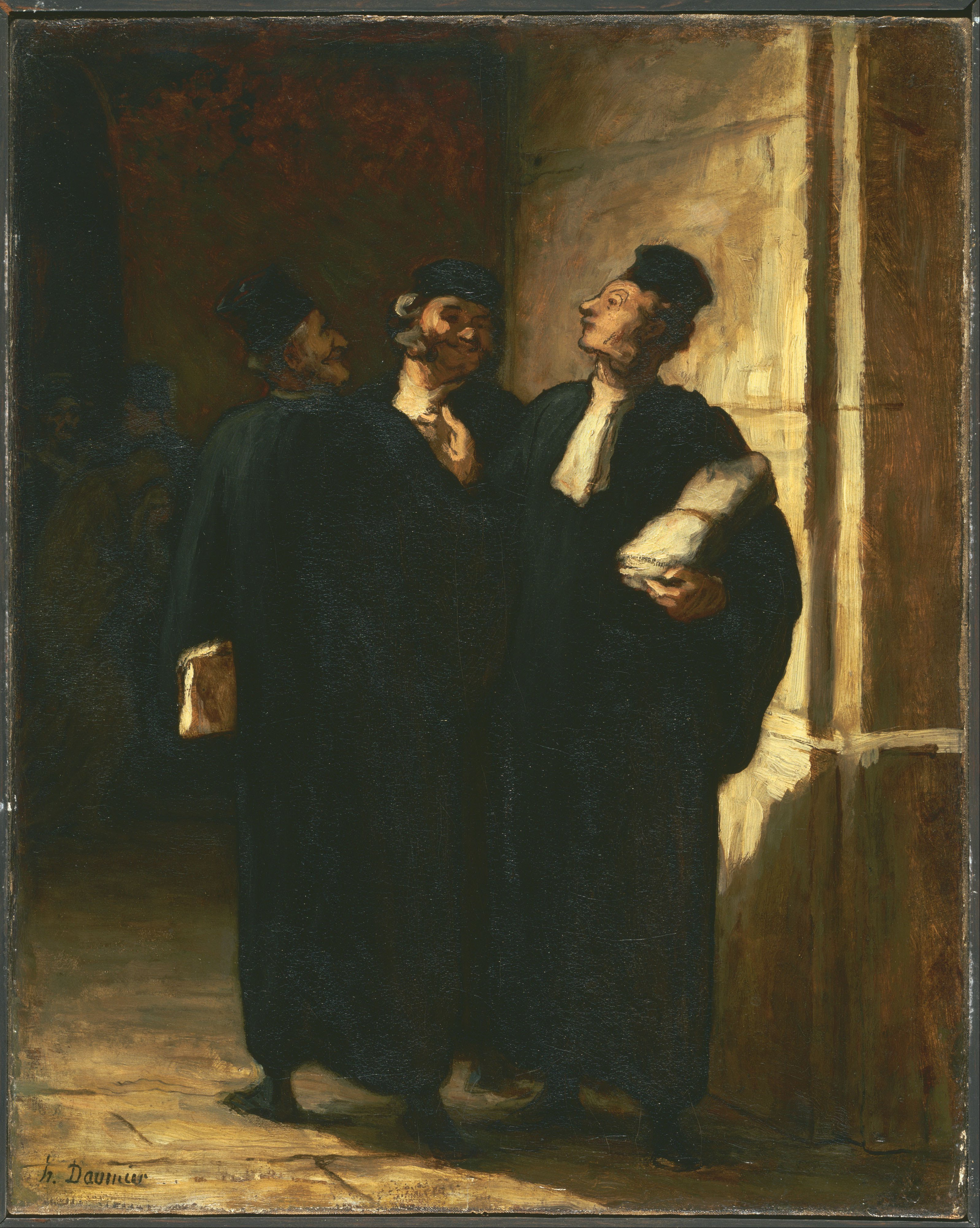 Legal drama in artworks: Honoré Daumier, Three Lawyers,
