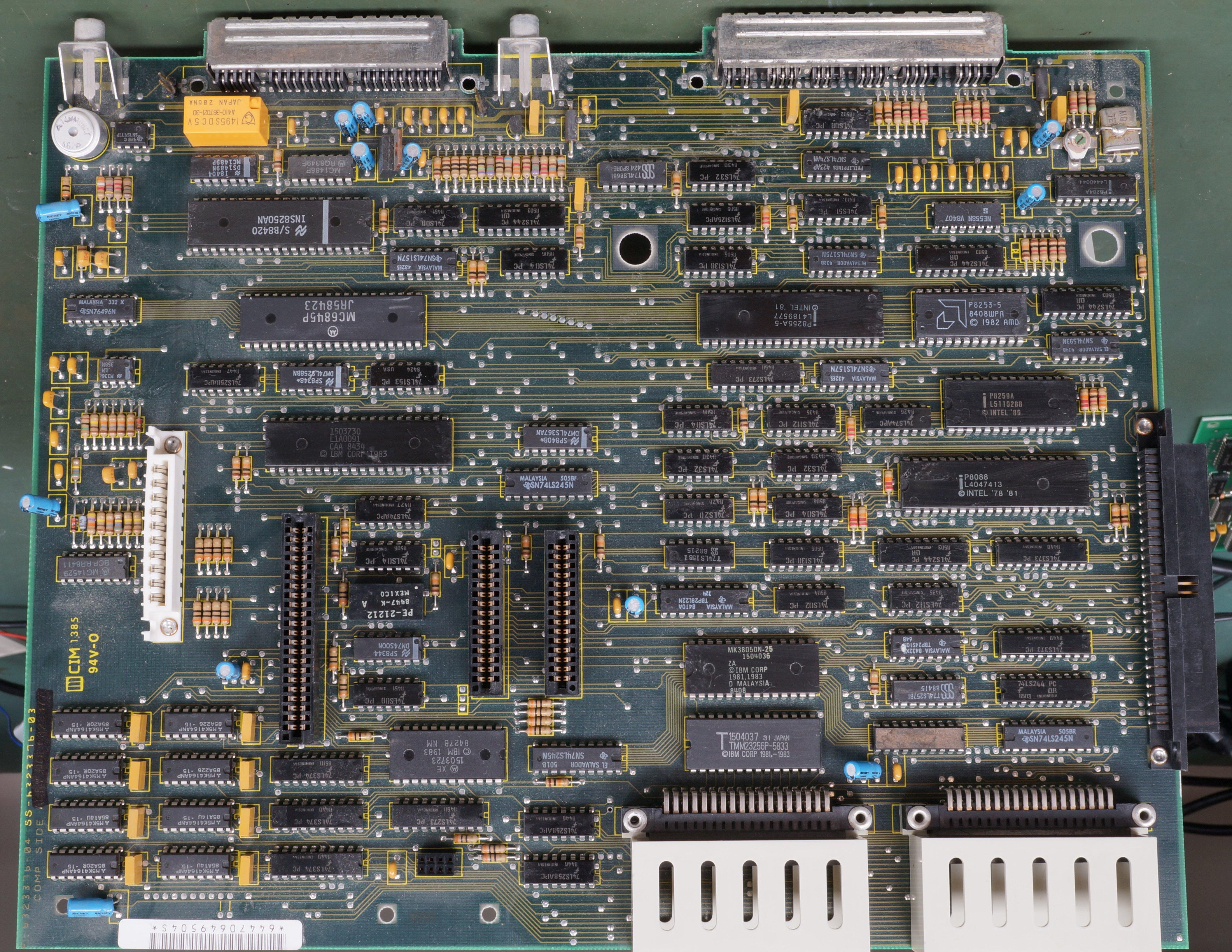Fileibm Pcb Jr Motherboard Wikipedia Electronic Circuit